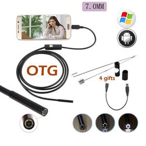USB Endoskop Kamera IP67 Su Geçirmez 6LED 720 P Android Telefon PC Için 7mm Endoskop Kamera Boru Muayene kamera