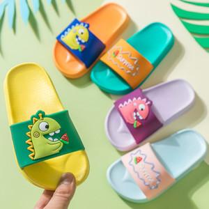 Dinosaur Slippers for Boy Girl Cartoon Rainbow Shoes 2020 Summer Todder Flip Flops Baby Indoor Slippers Beach Swimming Slipper