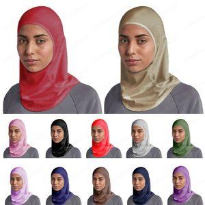 Женщины Мусульманского Underscarf Внутренней крышка Полных шеи крышка Хиджаб шарф Ninja Hat исламская Bonnet Тюрбан Caps Cotton косынка Wrap шаль