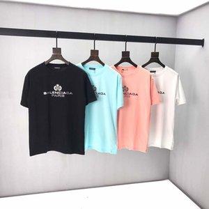 Camiseta de los hombres de verano 2020 del nuevo diseñador de lujo camisetas camiseta de manga corta de las camisetas del corazón impresión divertida Top camisetas unisex 9742