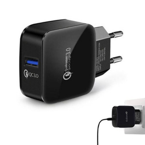 Cyberstore QC3. 0 USB Wall Charger Adapter Quick Charging Travel Adapter US EU Dock для iPhone XS MAX Samsung S10 PLUS S10e