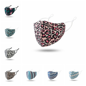 Leopard Face Masks Adult Washable Dustproof Adjustable Mask Outdoor Riding Cycling Print Cotton Breathable Mouth Masks 8styles RRA3272