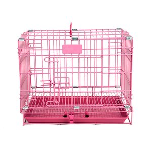 LK1613 High Quality Metal Cage For Dog Cat Foldable Pet Cage Crate Double-Door Pet Kennel Easy Install L XL For Sale
