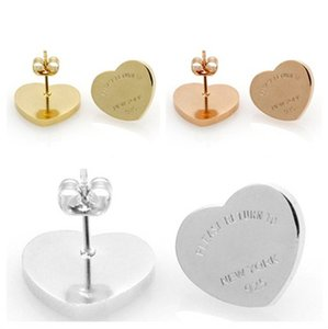 الخواتم الفاخرة الأقراط مصمم الأزياء الجميلة مجوهرات الحب القلب العلامة التجارية حلق سحر القرط مربط
