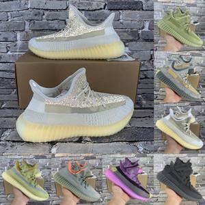 2021 Mejor calidad Kanye carbon earth sulfer cinder oreo israfil desert sage lino lino zyon zapatillas reflectantes para hombre zapatillas de deporte para mujer