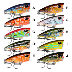 Мини Topwater поппер прогулочная приманка для рыбалки 4.2 см 3.5 г 10 цветов Плавающая плавающая басовая вспышка Жесткая лазерная приманка