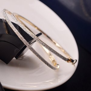 6CM Хооп Круглых мотаться серьги ювелирных изделий Женщины Кристалл Diamante Rhinestone Большого ухо кольцо S55