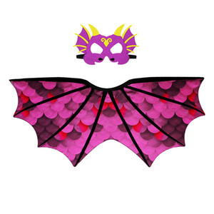 Dinosaurier Muster Mantel Maske Flugsaurier Flügel Mantel Kid Cape Chiffon Material Hohe Qualität Multicolor Heiße Verkäufe 24 9dj C1