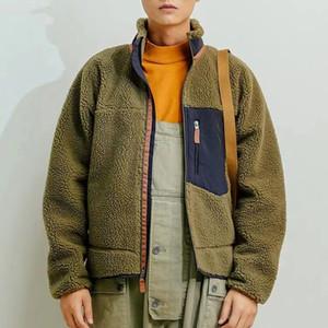 TOP Fleece Jaccet Panelled Color Matching Zipper stand colletto Splice inverno caldo cappotti via casuale uomini donne paio 5 colori HFHLJK072