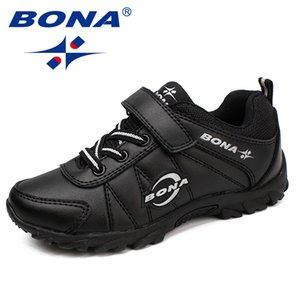 Bona New Classics Style Bambini Scarpe casual Hook Loop Ragazzi Scarpe da jogging all'aperto Sneakers Confortevole morbido spedizione gratuita Y190525