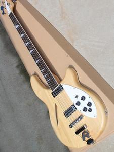 Редкая метрическая 360 Mapleglo гитара натурального дерево 6 Струны Semi Acoustic тело Mono и Stereo Triangle Мать Pearloid Накладка Китай гитара