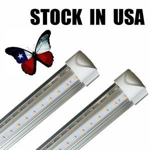 8ft tube LED lumières en forme de V 8 pieds magasin de conception luminaire LED 2ft 3ft 4ft 5ft 6ft Cooler porte du congélateur éclairage des lampes fluorescentes