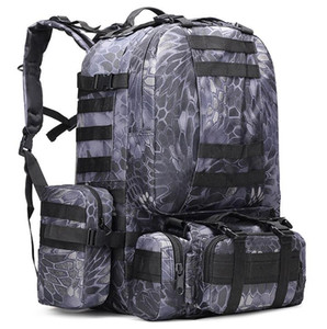 50L большой емкости Открытый Спорт Тактический рюкзак Рюкзаки путешествия на открытом воздухе кемпинга Trekking сумка Камуфляж туризм Комбинированные пакеты обратно