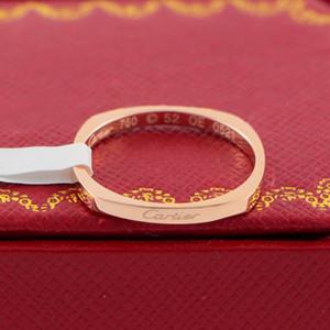 18K Rose Altın Kaplama Yüzük Moda Letter Halkalar Doğum Hediyesi için Çift Kadınlar Moda Aksesuar