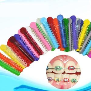 40 Stück-Packung Dental KFO Ligatur Krawatten Bunte Gummiband elastische freies Verschiffen