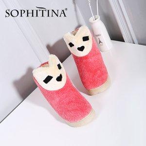 SOPHITINA New warme und bequeme Damen beiläufige Art und Weise Karikatur-flache Schuhe SO289 Y200424