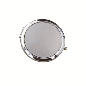 DHL shipping New Silver Pocket Thin Compact Mirror Blank Round Metal Makeup Mirror DIY Costmetic Mirror Wedding Gift