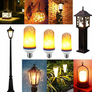 1PC LED de maïs Ampoule flamme lampes Effet 110V 220V Simulation gaz Remplacer Fire Burning Flicker Lanterne Décoration 2 modes