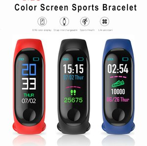 Bluetooth Sport Smart Wristband Blood Pressure Heart Rate Monitor M3 smartwatch Fitness Tracker Pedometer Band for Men Women