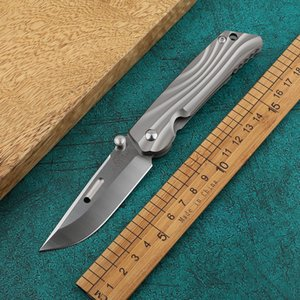 Tian Yang folding knife AUS-10 steel small folding knife titanium alloy outdoor camping survival tool knife