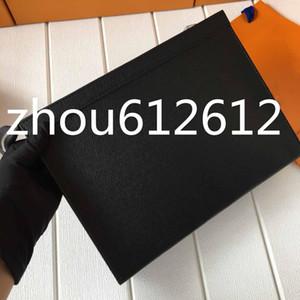 İyi Erkek Debriyaj Çanta Tuvalet Kılıfı Yıkama Çanta Makyaj Kutusu Gerçek Deri çanta zippy çanta 26cm M61692 N41696 Cüzdan ÇANTA pochette YOLCULUK