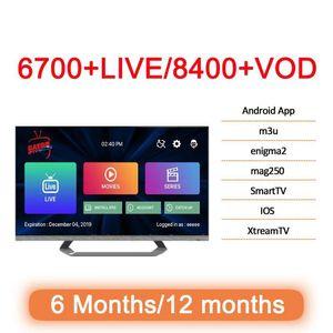 Android iOS inteligente TV Mag caixa M3U Europa França Reino Unido EUA Canadá Itália Holanda Brasil Saudita