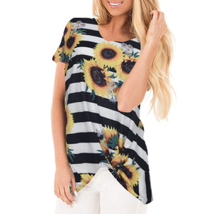 Womail Floral Printed Cotton Material O-Neck Short Sleeve High Quality Casual Summer Hot Sale Women T-Shirt 19MAY01