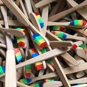 Многоразовый бамбук зубная щетка индивидуальная упаковка плоская ручка мягкой щетиной дешевы собственный логотип экологически чистой крафт бумаги случае