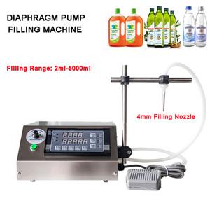 3-5000ML Bomba de diafragma pequeña botella de relleno del jugo semiautomático de tinta Perfume Aceite Bebidas Vial Liquid Filling Machine Con una sola boquilla
