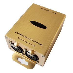 Freeshipping Professional Audio Ground Isolator XLR Audio Isolator Analog AES EBU Audio Eliminate noise Isolator