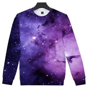 Suéter de cuello redondo 3d Hombres y mujeres Adolescentes Tendencia Blue Fire Horse Flame Starry Sky Exceed Hyun Number Printing