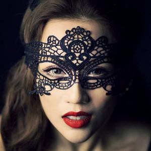Máscara nuevas mujeres de las muchachas de encaje balón Catwoman atractivo de la mascarada del partido de baile del ojo máscara de gato Disfraz de Halloween