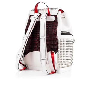 Rosso Blu Donne e borsa superiore del progettista della pelle di agnello di cristallo rivetbags Spike uomini shcool rotazioni zaino di marca colore nero packbag Big bag