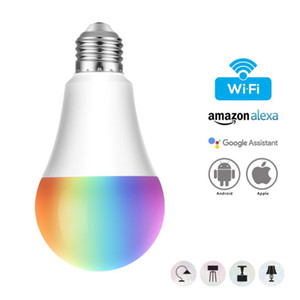 Smart Illuminatio E27 WiFi Smart Ampoule LED RGB 7W Multicolor Ampoule Gradable Contrôle de la voix Compatible avec Alexa Google
