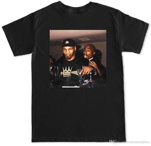 100% хлопок футболка Hip Hop Rap T Shirt для мужчин Тайсон Пары Футболка Тупака Легенда бокса Майк Shakur Factory Outlet La Trap Популярные Настраиваемого
