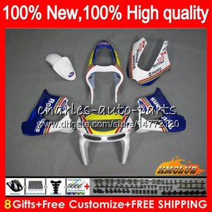 Corpo per Kawasaki Rothmans Blu ZX900 ZX9 R ZX 9R ZX9R 98 99 00 01 55HC.35 900cc 98-99 ZX 9 R 900 ZX9R 1998 1999 2000 2001 ABS carenature kit