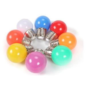 다채로운 글로브 전구 E27 주도 바 라이트 화이트 레드 블루 그린 옐로우 오렌지 핑크 램프 빛 SMD 2835 홈 인테리어 조명