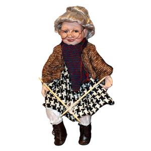 Elegante Porcelain Doll da collezione Bella Nonna Figurine stand 45 centimetri