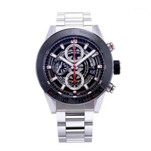 Saatı Erkekler Saatler Özelleştirmek Hareketi Rahat Paslanmaz Çelik Otomatik İzle1