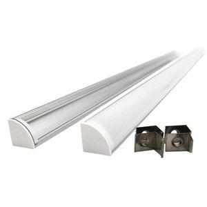 Mutfak için 45 derece köşe LED şerit alüminyum profil ve V tipi profil kanalı LED Şerit kurulumları veya dolap lambaları CH