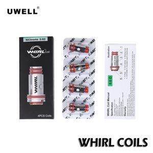 Uwell Whirl Bobinas 0.6ohm 1.8ohm Nichrome Substituição Núcleo Cabeças Para Giro 20 22 Vaping Pen Starter Kit 100% Autêntico