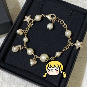 2020 Japan And South Korea Best Selling New Pearl Pendant Bracelet With Diamond Love Digital Five Pointed Star Shape Elegant Wholesale