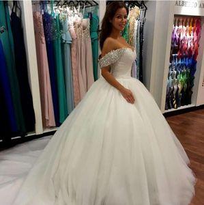 Abiti da sposa abito da sposa fuori dalla spalla Sweetheart gonfio Abiti da sposa Zipper Indietro Abito da sposa su misura