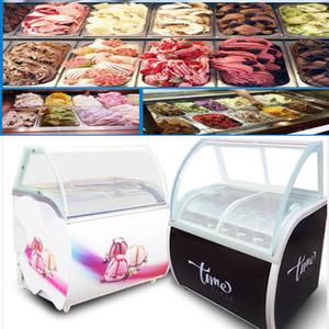 12 barils / 14 boîtes réfrigérateur commercial congélateur armoire d'affichage de crème glacée crème glacée congélateur dur cabinet d'affichage de boisson froide à la crème glacée
