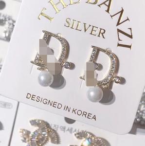 2020 Ohrringe Luxuxschmucksachen Mode Damenmens-Ohrringe Hip Hop Diamant-Bolzen-Ohrringe Iced Out Bling-Rock-Punk-Runde Hochzeits-Geschenk