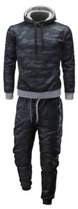 2018 Autumn And Winter Plus-sized Menswear Hooded Camouflage Sports Leisure Suit Men SPORT Suit