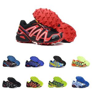 Salomon Speed Cross 3 2019 Speed cross 3 CS III Chaussures de course Noir Argent rouge Rose bleu Femmes Outdoor SpeedCross 3s Randonnée Chaussures de sport pour femme