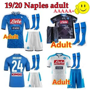 Adult kit 19 20 napoli soccer jersey home 2019 2020 Naples ZIELINSKI HAMSIK INSIGNE MERTENS CALLEJON PLAYER ROG football shirts