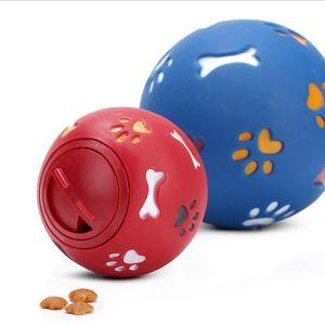 Alimenti per animali giocattolo che perde puzzle cane presa sulla palla-resistenti grande piccole dimensioni multicolore giocattoli di masticazione opzionale latte profumato vinile cane palla