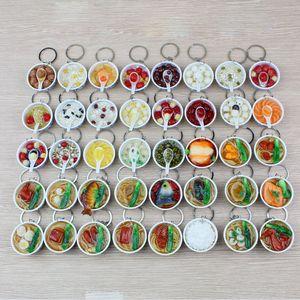 200pcs Simulação de alimentos pvc chaveiro de macarrão de ovo pingente Brinquedos da cozinha das crianças atacado 40 estilo frete grátis XD22851